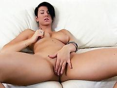 Babe, Big Tits, Masturbation, Public