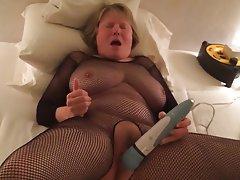 Lingerie, Masturbation, Mature, Orgasm, Stockings