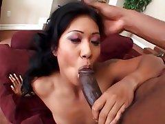 Asian, Babe, Big Black Cock, Big Cock, Interracial