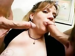 Blowjob, BBW, Threesome, Cum in mouth