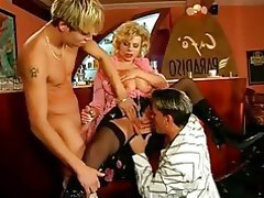 Blowjob, Cumshot, MILF, Old and Young, Threesome
