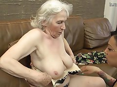 Lesbian, Granny, Mature, Hairy, Old and Young